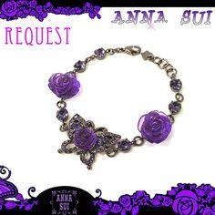 【楽天市場】ANNA SUI アナスイ アクセサリー 指輪 annasui ローズモチーフ バタフライ ブレスレット パープル ギフト プレゼント 秋冬 新作 リクエスト【05P23Jul12】【お中元】【ギフト】 【プレゼント】【マラソン204656_ファッション】:Jos Brand Select Shop