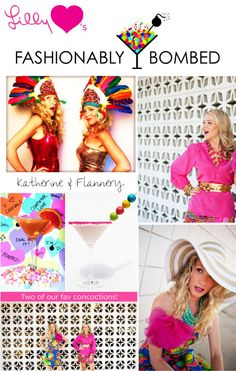 """colorful """"Fashionably Bombed"""" weekly blogsite"""
