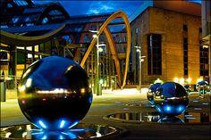 Sheffield Winter Garden and silver balls