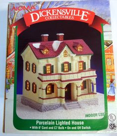 NOMA Dickensville Collelctables Porcelain House Maison Christmas Holiday Decor #NOMA