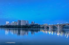 #Rosslyn and #KeyBridge from Georgetown Waterfront.