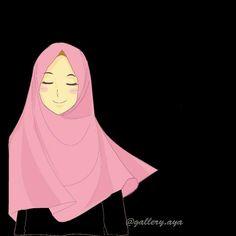 Muslim Girls, Muslim Women, Girl Cartoon, Cartoon Art, Anime Muslim, Hijab Cartoon, Kawaii, Islam Muslim, Couple Drawings