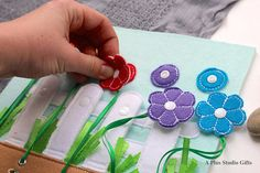 Snaps and Flowers Quiet Page is designed for toddlers to keep their little hands busy and their brain working. This toddler toy is your best choice if you want to give a special gift that will become a keepsake for years. This toy will grow with your child and the older the child
