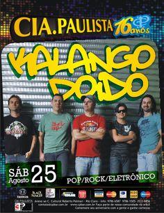 Amanhã, sábado (25) no Cia Paulista em Rio Claro tem Banda Kalango Doido no comando da noite. No repertório, o melhor do rock, pop, samba-rock e eletrônico.