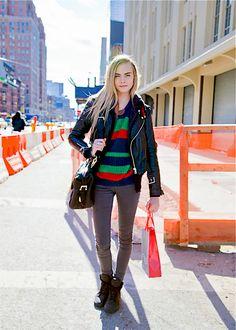 Enjoy Fashion: Streetstyle: Cara Delevingne