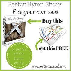 Easter Hymn StudyPICK your own SALE! That's right. Get $2 OFF the Hymn Study OR get a copy of my JOY prayer cards FREE!