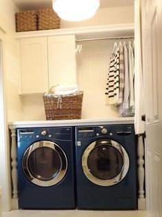 120 Best Laundry Room Decor Ideas and Design For 2019 laundry . 120 Best Laundry Room Decor Ideas and Design For 2019 laundry closet organization Tiny Laundry Rooms, Laundry Room Remodel, Laundry Room Cabinets, Farmhouse Laundry Room, Laundry Closet, Laundry Room Organization, Laundry Room Design, Organization Ideas, Storage Ideas