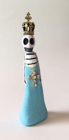 Santo-Doll-Day-of-the-Dead-Small-Mini-Skeleton-Figurine-Doll-Shrine-Nicho-Altar