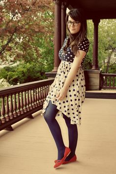 these are a few of my favorite things: polka dots. red, white and blue. skirts! flats!