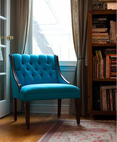 Turquoise Chair for my reading area