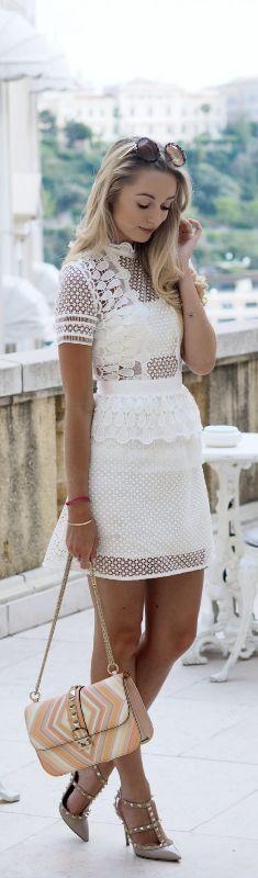 Self Portrait Dress // Fashion Look by Fashion Mumblr