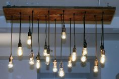 Reclaimed Walnut Barn Wood Chandelier with varying by urbanchandy, $1045.00