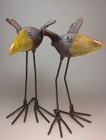 Wildmud Pottery And Sculpture: Two Raku Birds