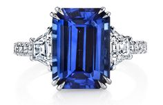 Platinum Emerald-Cut Sapphire Ring - Omi Privé - Product Search - JCK Marketplace