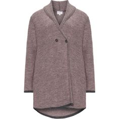 Amber and Vanilla Pink / Grey Plus Size Cardigan with shawl collar (3.820 RUB) ❤ liked on Polyvore featuring tops, cardigans, pink, plus size, gray top, pink top, pink long sleeve top, grey shawl collar cardigan and grey cardigan
