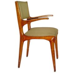 Carlo De Carli Dining Chairs  CREATOR:Carlo de Carli (Designer) COUNTRY:Italy DATE OF MANUFACTURE:1953 MATERIALS:Oak CONDITION:Perfette! Just restored and waiting to be reupholstered with your fabric. HEIGHT:34 in. (86 cm) WIDTH:20 in. (51 cm) DEPTH:19 in. (48 cm)
