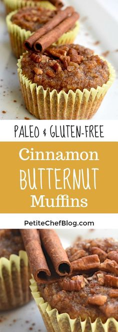 These grain-free Paleo Cinnamon Butternut Squash Muffins are perfectly sweet and nutty yet are made with wholesome ingredients including almond flour, butternut squash puree, cinnamon, and honey. Healthy Breakfast Muffins, Best Breakfast, Healthy Breakfasts, Healthy Snacks, Breakfast Ideas, Breakfast Recipes, Healthy Breads, Breakfast Casserole, Healthy Baking