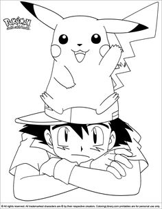 Pokemon online coloring page Pikachu Coloring Page, Pokemon Coloring Pages, Online Coloring Pages, Cartoon Coloring Pages, Colouring Pages, Pokemon Online, All Pokemon, Outline Drawings, Cute Drawings