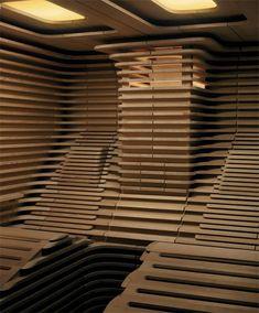 Nice idea for a 2-Person sauna. Sauna equipment for an outdoor sauna