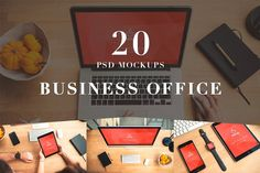 20 PSD Mockups Business Office by Mocup, mocup.com on @creativemarket