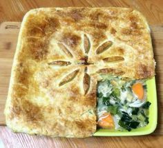 Chicken and vegetable pie recipe. Very easy, even the pastry!