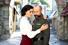 Wounded Love tv series: Halit Ergenc and Berguzar Korel act as married couple. Halit ergenc is commander of Ottoman Empire during Balkans War Love Tv Series, Tv Channels, Acting, Drama, Bomber Jacket, Winter Jackets, Country, Couple Photos, Celebrities