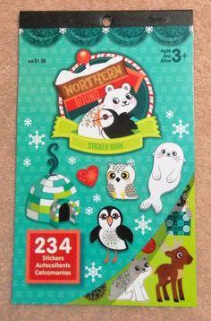 Darice Sticker Book - Northern Bound - Winter Stickers - Christmas #Darice