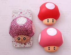 Mushroom Crystal Phone Case case deco kit by AlonmyCrystalCrafts