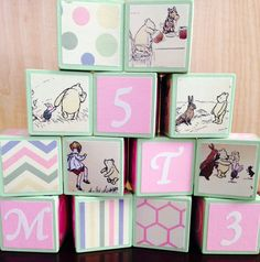 Classic Winnie the Pooh Building Blocks by OllieBeez on Etsy