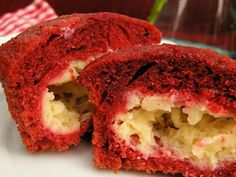 Vittles and Bits: Red Velvet Muffins with Cream Cheese Filling