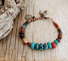 boho bracelet - lotus yoga bracelet - gypsy bracelet - hippie bracelet. $48.00, via Etsy.