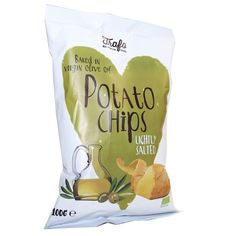3/5 Trafo   Virgin Olive Oil Baked Crisps   100g: inköpt goodstore. helt okej, men tyvärr menlös i jämförelse med övriga olivchips, mer sälta behövs!