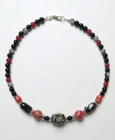 Collier Agate, Cornaline, Onyx et Argent Bijoux Agate, Beaded Bracelets, Jewelry, Carnelian, Money, Novelty Signs, Jewellery Making, Pearl Bracelets, Jewelery