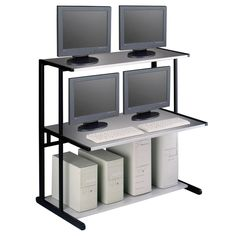 Mayline Netstart 50-inch 3-shelf LAN Support Station