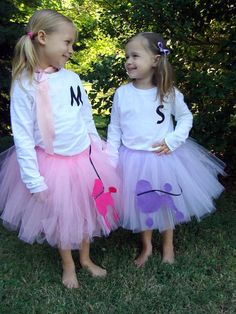 Poodle skirt sewn tutu costume. 50's sock hop by CassidyChristy