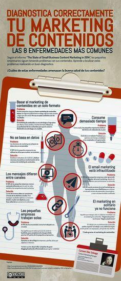 Las 8 enfermedades más comunes de tu #Marketing de contenidos
