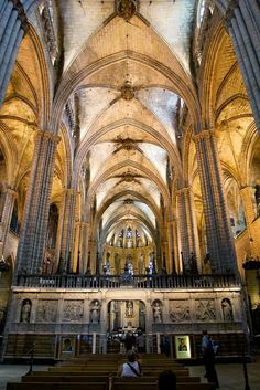 cathedral of the holy cross and saint eulalia architecture rh pinterest com