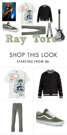 """""""Let's use this time on earth to be positive and do good things."""" by saleonsea ❤ liked on Polyvore featuring Uniqlo, Off-White, Jacob Cohёn, Vans, men's fashion, menswear, emo, Punk, mcr and mychemicalromance"""