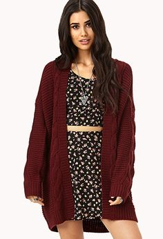 Forever 21 is the authority on fashion & the go-to retailer for the latest trends, styles & the hottest deals. Fall Outfits, Casual Outfits, Cute Outfits, Fashion Outfits, Casual Clothes, Fall Sweaters, Sweaters For Women, Cable Knit Cardigan, Style Guides
