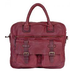 coole Leder Damen Businesstasche von WouWou aus den Niederlanden - leger und praktisch - super für Büro und Alltag