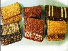 ▬► Плетение из газет сундучка / Decorative Chest newspapers