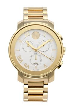 Movado 'Bold' Chronograph Bracelet Watch, 40mm available at #Nordstrom