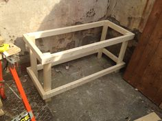 "putting the storage box frame together (2""x1"")"