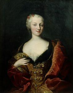 """""""Portrait of Countess Vittoria Maria Elizabetta Gazzelli di Selve e di San Sebastiano, Countess of Bellino"""" by Maria Giovanna Battista Clementi, aka La Clementina (1745)"""