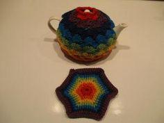 14 Free Tea Cozy Crochet Patterns: Shell Crochet Tea Cozy Free Pattern