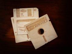Floppy Disk Coasters: Wooden Retrofication