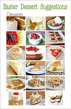Found some amazing menu suggestions for your Easter Dinner....There's Main Course, Sides and Desserts. Recipe is included for each of the yummy dishes.
