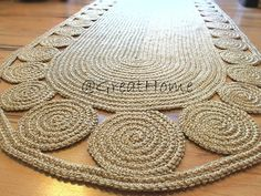 Unique floor decor, Hallway Rug 9 ft rug, Oval Crochet rug, Long Runner rug, Jute rug, FREE SHIPPING Made To Order Rug All jute rugs can be customized to fulfill your request. ~~~~~~~~~~~~~~~~~~~~~~~~~~~~~~~~~~ We make this beautiful rug by 100% natural jute. If youre looking for a natural