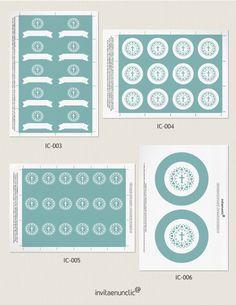 Colección de imprimibles Vidriera para comunión | Invitaenunclic
