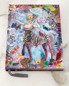 Zebra+Girl+Hardbound+Journal+by+Christian+Lacroix+at+Neiman+Marcus.